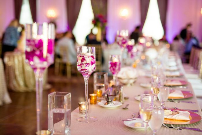 Wedding Head Table Ideas: Bold Sangria Wedding at the University Club from Jenna Hidinger Photography featured on Burgh Brides