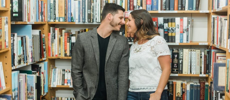 Bookstore Engagement Session: Maggie & Chris