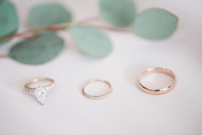 Pear Shaped Gold Engagement Ring: Enchanting Greenery Inspired Wedding from Levana Melamed Photography featured on Burgh Brides