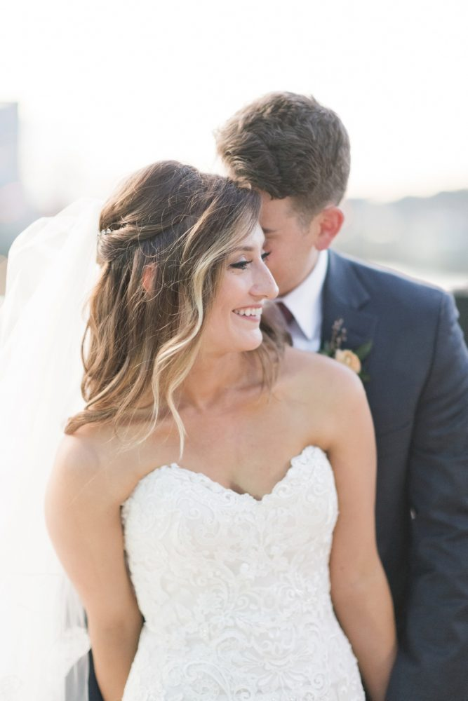 Hair Half Up Half Down on Bride for Wedding Day: Enchanting Greenery Inspired Wedding from Levana Melamed Photography featured on Burgh Brides