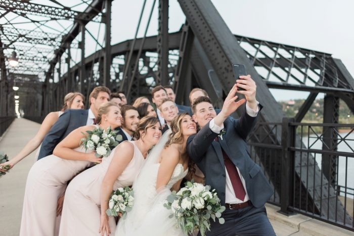 Wedding Day Selfies: Enchanting Greenery Inspired Wedding from Levana Melamed Photography featured on Burgh Brides