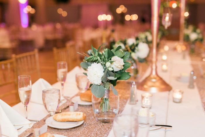 Green and White Wedding Centerpieces: Enchanting Greenery Inspired Wedding from Levana Melamed Photography featured on Burgh Brides