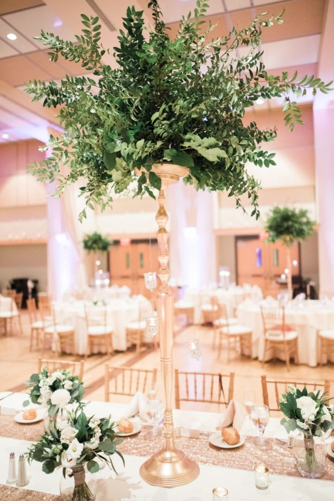 Elevated Greenery Wedding Centerpieces: Enchanting Greenery Inspired Wedding from Levana Melamed Photography featured on Burgh Brides