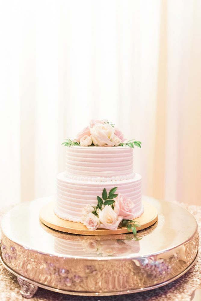 Two Tier Buttercream Wedding Cake: Enchanting Greenery Inspired Wedding from Levana Melamed Photography featured on Burgh Brides