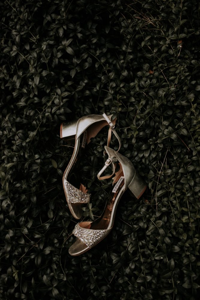 Gold Peep Toe Wedding Shoes for Bride: Hip & Modern Wedding from All Heart Photo & Video featured on Burgh Brides