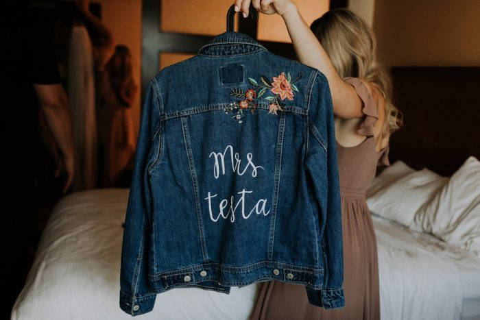 Custom Bridal Jacket for Wedding Day: Hip & Modern Wedding from All Heart Photo & Video featured on Burgh Brides