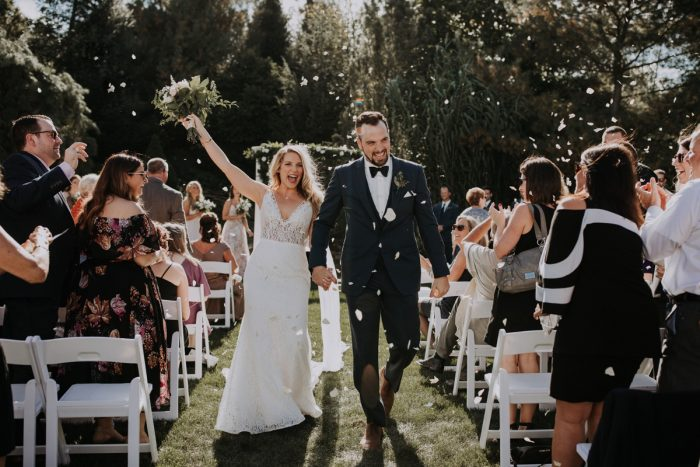 Confetti Wedding Ceremony Exit Toss: Hip & Modern Wedding from All Heart Photo & Video featured on Burgh Brides