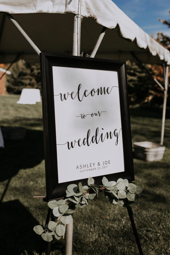 Wedding Welcome Signs: Hip & Modern Wedding from All Heart Photo & Video featured on Burgh Brides