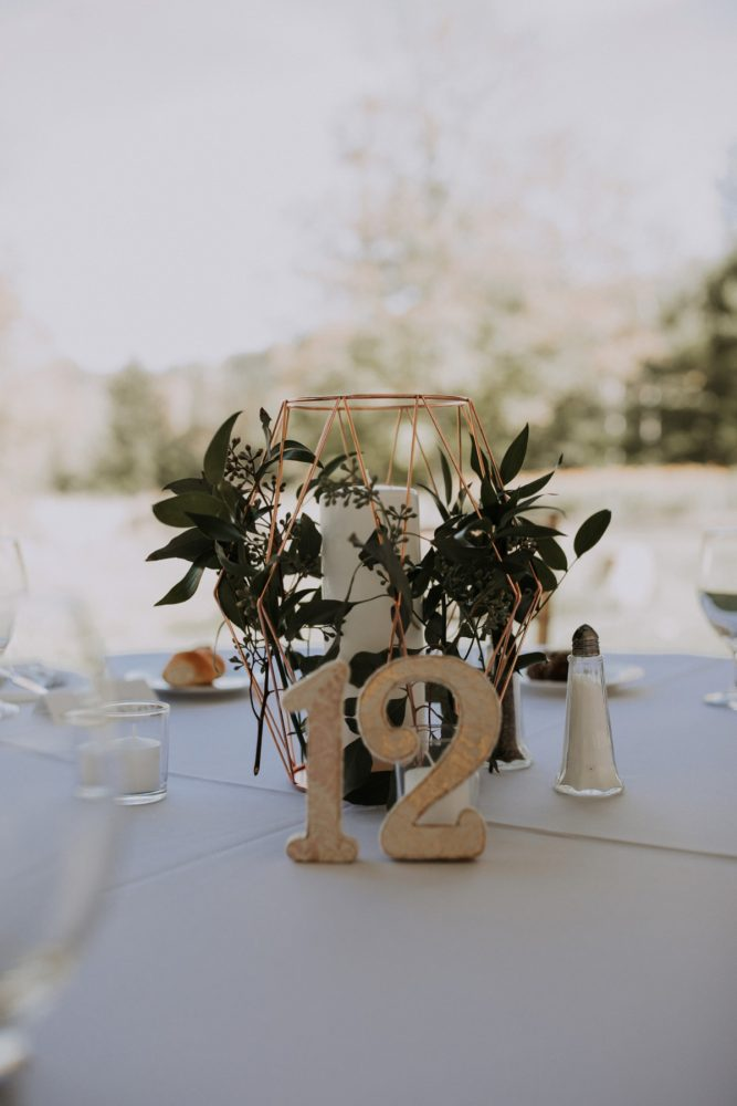 Gold Wedding Table Numbers: Hip & Modern Wedding from All Heart Photo & Video featured on Burgh Brides