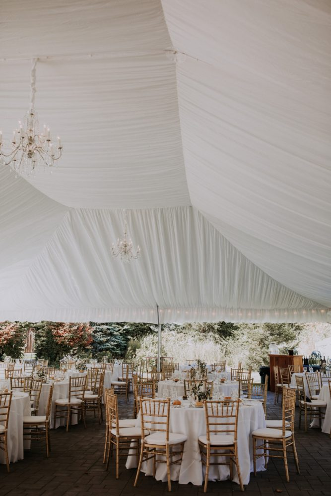 Tented Wedding Reception Ideas: Hip & Modern Wedding from All Heart Photo & Video featured on Burgh Brides