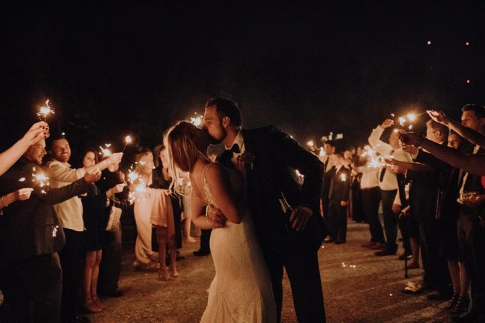 Wedding Sparkler Exit: Hip & Modern Wedding from All Heart Photo & Video featured on Burgh Brides