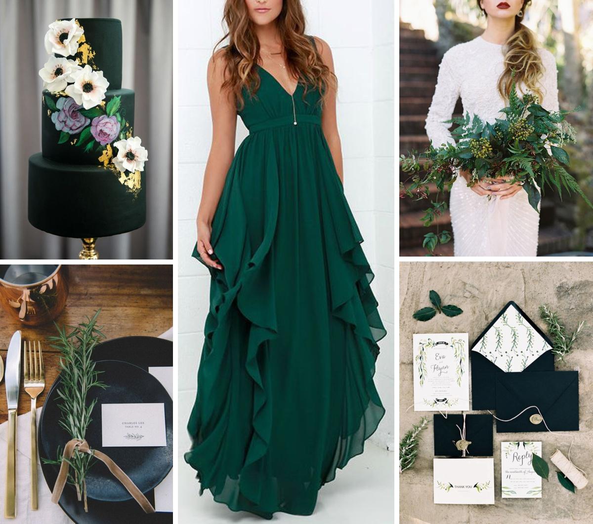 Hunter Green Black Amp Ivory Wedding Inspiration Burgh
