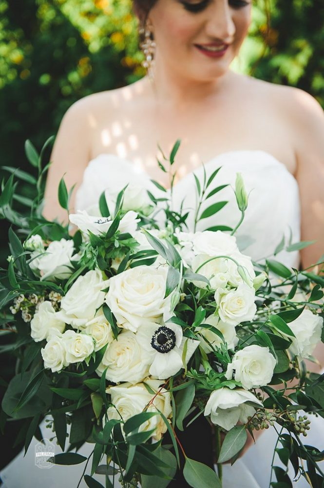 Lush Textural Wedding Bouquet for Bride: v