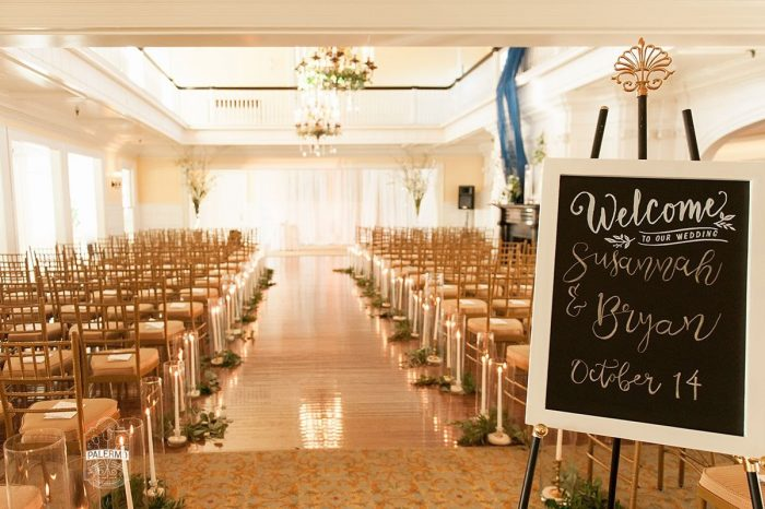 Wedding Welcome Sign: Modern Garden Inspired Wedding at the Pittsburgh Golf Club from Palermo Photography featured on Burgh Brides