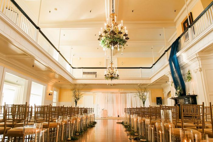 Wedding Ceremony Set Up Ideas: Modern Garden Inspired Wedding at the Pittsburgh Golf Club from Palermo Photography featured on Burgh Brides