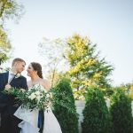 Lush Bridal Bouquet with Silk Ribbons: Modern Garden Inspired Wedding at the Pittsburgh Golf Club from Palermo Photography featured on Burgh Brides