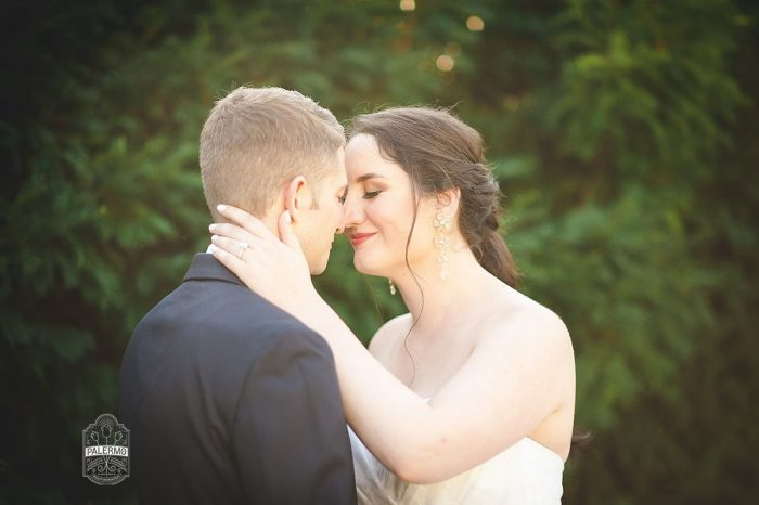 Romantic Wedding Portraits: Modern Garden Inspired Wedding at the Pittsburgh Golf Club from Palermo Photography featured on Burgh Brides