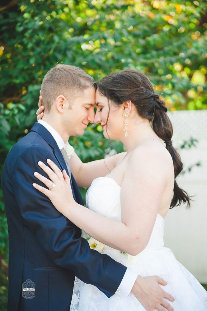 Pony Tail Hair Style for Bride: Modern Garden Inspired Wedding at the Pittsburgh Golf Club from Palermo Photography featured on Burgh Brides