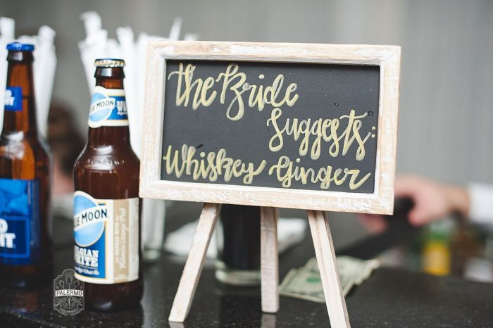 Wedding Bar Menu Signs: v