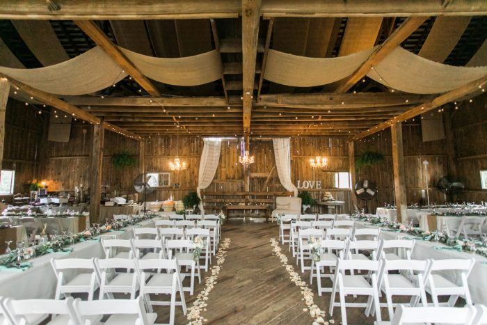 Wedding Ceremony Set Up Ideas: Vintage Rustic Wedding at Shady Elms Farm from Steven Dray Images featured on Burgh Brides