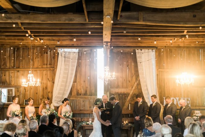 Barn Wedding Ceremony Set Up Ideas: Vintage Rustic Wedding at Shady Elms Farm from Steven Dray Images featured on Burgh Brides