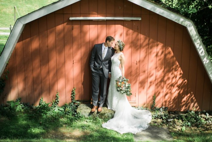 Farm Wedding Portraits: Vintage Rustic Wedding at Shady Elms Farm from Steven Dray Images featured on Burgh Brides