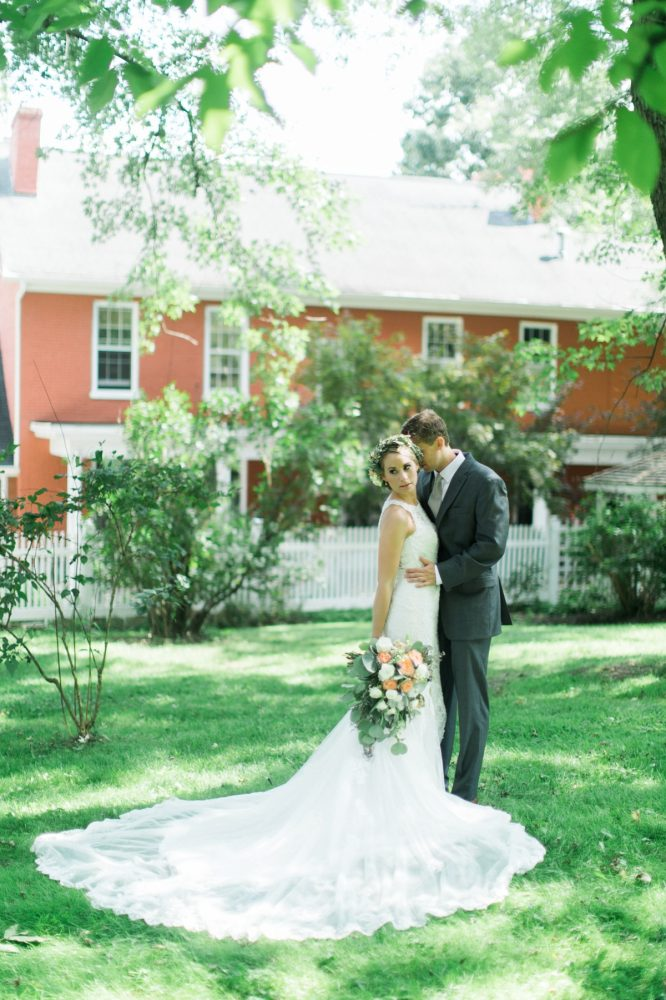 Outdoor Wedding Portraits: Vintage Rustic Wedding at Shady Elms Farm from Steven Dray Images featured on Burgh Brides