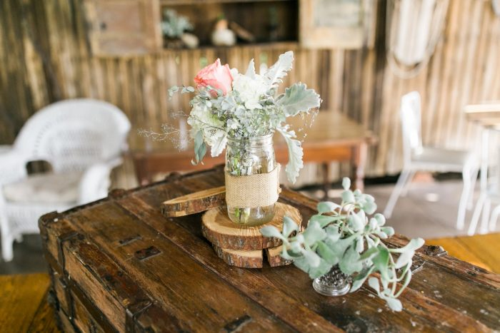 Rustic Wedding Centerpieces: Vintage Rustic Wedding at Shady Elms Farm from Steven Dray Images featured on Burgh Brides