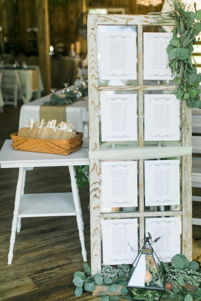 Vintage Window Wedding Seating Chart: Vintage Rustic Wedding at Shady Elms Farm from Steven Dray Images featured on Burgh Brides