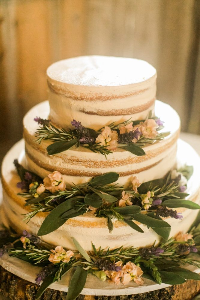 Naked Wedding Cake: Vintage Rustic Wedding at Shady Elms Farm from Steven Dray Images featured on Burgh Brides