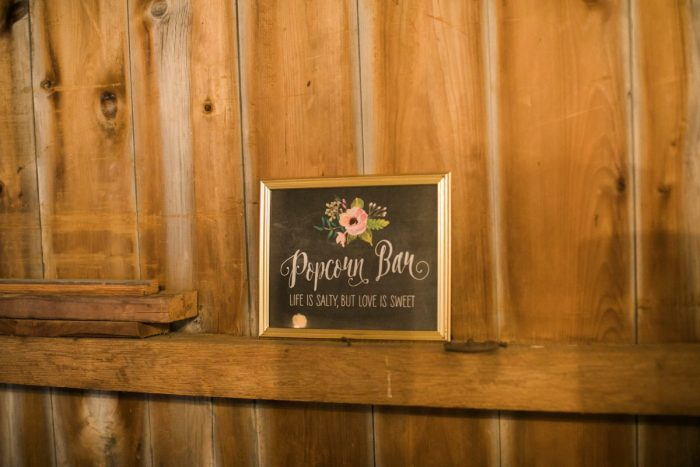 Wedding Popcorn Bar: Vintage Rustic Wedding at Shady Elms Farm from Steven Dray Images featured on Burgh Brides