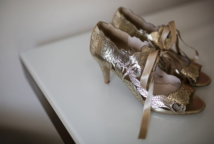Harriet Wilde Wedding Shoes: Berry & Dusty Blue Wedding at the Duquesne Power Center from Tara Bennett Photography featured on Burgh Brides