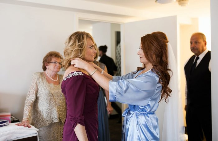 Bride and Mother of the Bride: Berry & Dusty Blue Wedding at the Duquesne Power Center from Tara Bennett Photography featured on Burgh Brides