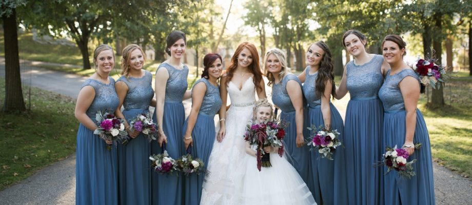 Berry & Dusty Blue Wedding at the Duquesne Power Center: Carly & Adam