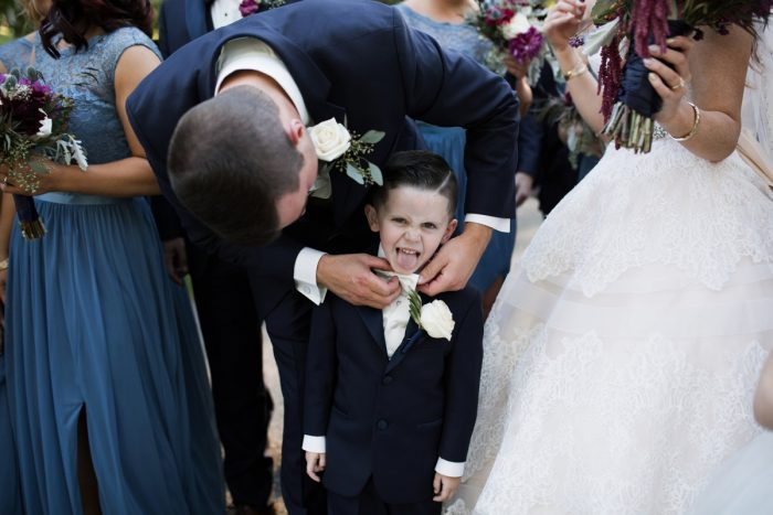 Ring Bearer: Berry & Dusty Blue Wedding at the Duquesne Power Center from Tara Bennett Photography featured on Burgh Brides