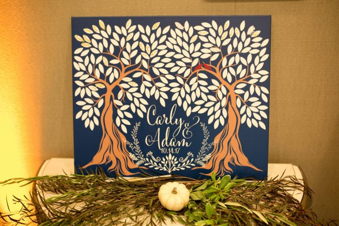Wedding Guest Book Ideas: Berry & Dusty Blue Wedding at the Duquesne Power Center from Tara Bennett Photography featured on Burgh Brides