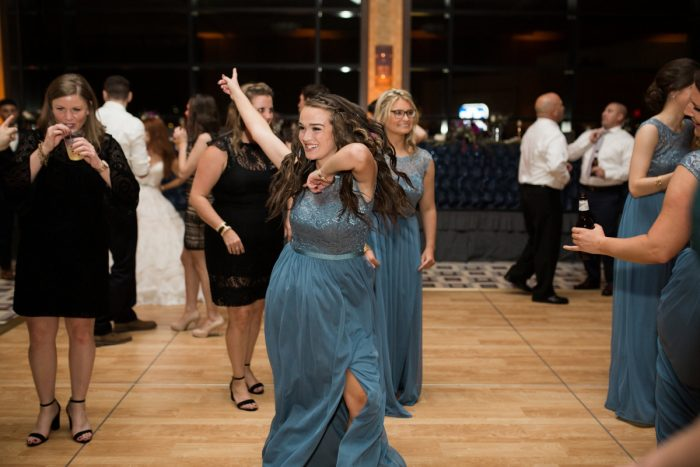 Berry & Dusty Blue Wedding at the Duquesne Power Center from Tara Bennett Photography featured on Burgh Brides