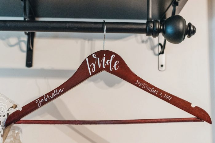Custom Bridal Hanger: Boho Jewel Tone Wedding at Bramblewood from Tied & True Photography featured on Burgh Brides