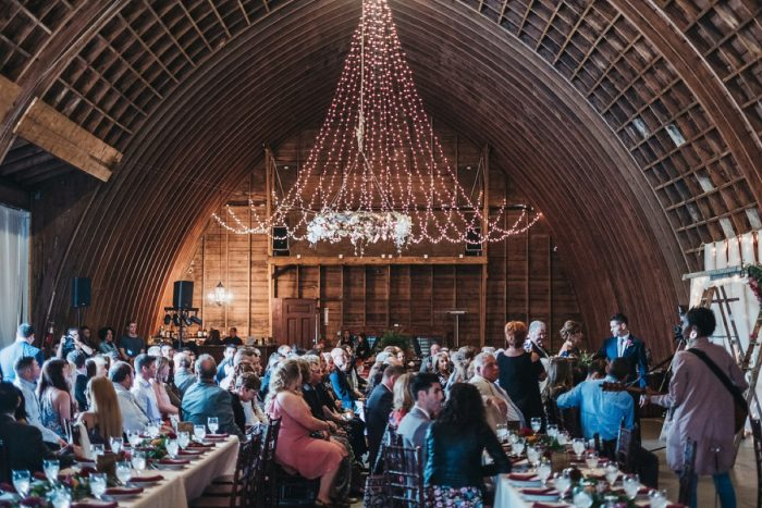 Barn Wedding Ceremony: Boho Jewel Tone Wedding at Bramblewood from Tied & True Photography featured on Burgh Brides