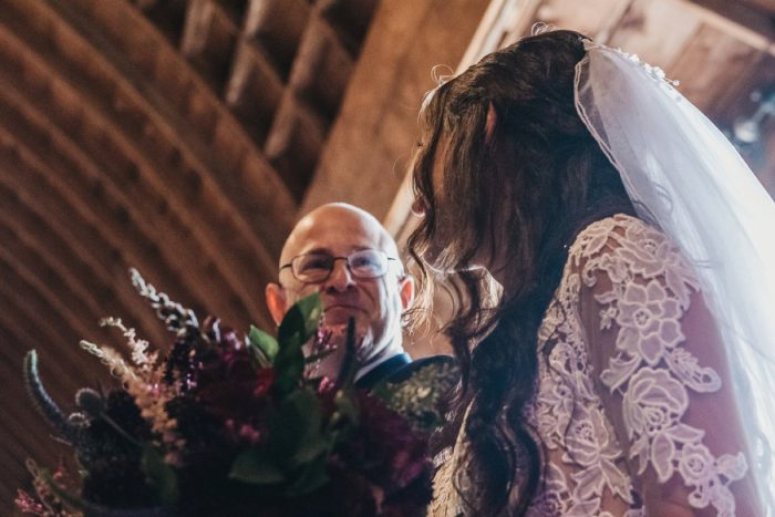 Bride and Father of the Bride: Boho Jewel Tone Wedding at Bramblewood from Tied & True Photography featured on Burgh Brides