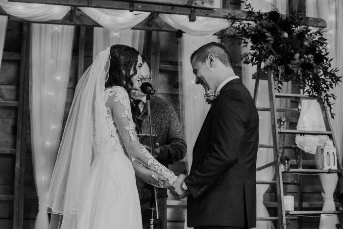 Barn Wedding Ceremony: Boho Jewel Tone Wedding at Bramblewood from Tied & True Photography featured on Burgh Brides