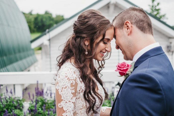 Loose Waves Bridal Hair: Boho Jewel Tone Wedding at Bramblewood from Tied & True Photography featured on Burgh Brides
