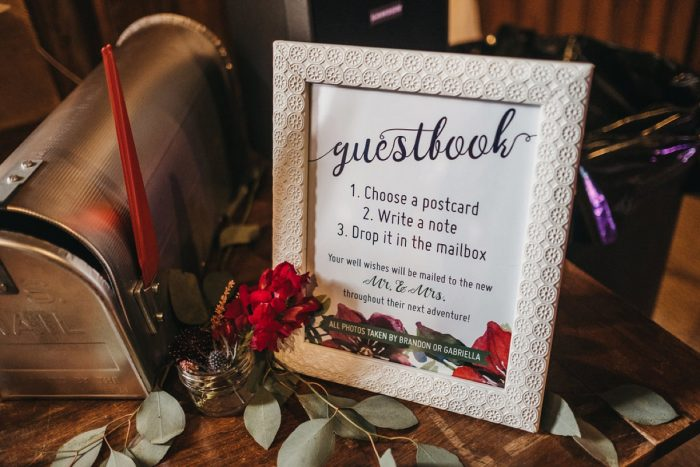 Wedding Guest Book Ideas: Boho Jewel Tone Wedding at Bramblewood from Tied & True Photography featured on Burgh Brides