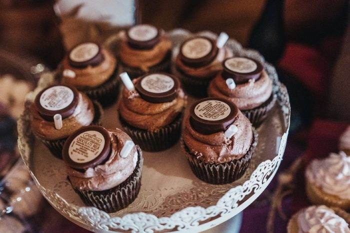 Wedding Cupcakes: Boho Jewel Tone Wedding at Bramblewood from Tied & True Photography featured on Burgh Brides