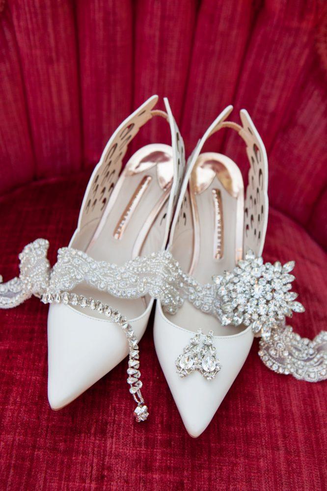 Rhinestone Bridal Accessories: Elegant Black & White Wedding at Noah's Event Venue: Mallory & Mark