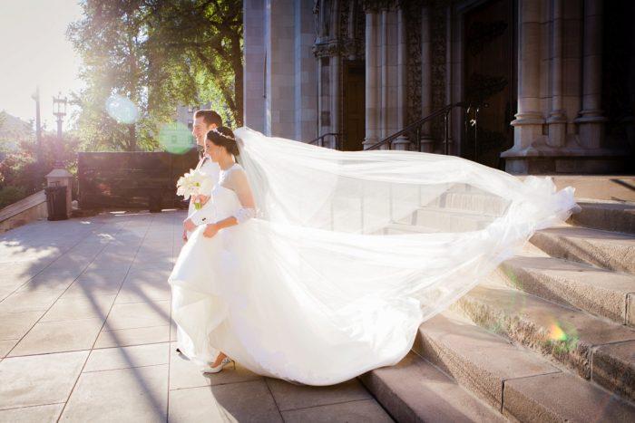 Wedding Ceremony Exit Ideas: Elegant Black & White Wedding at Noah's Event Venue: Mallory & Mark