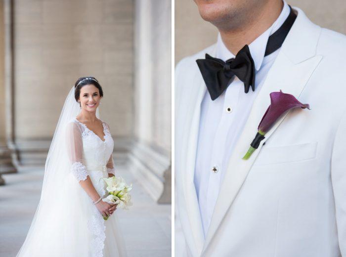 Classic Black and White Wedding Attire: Elegant Black & White Wedding at Noah's Event Venue: Mallory & Mark