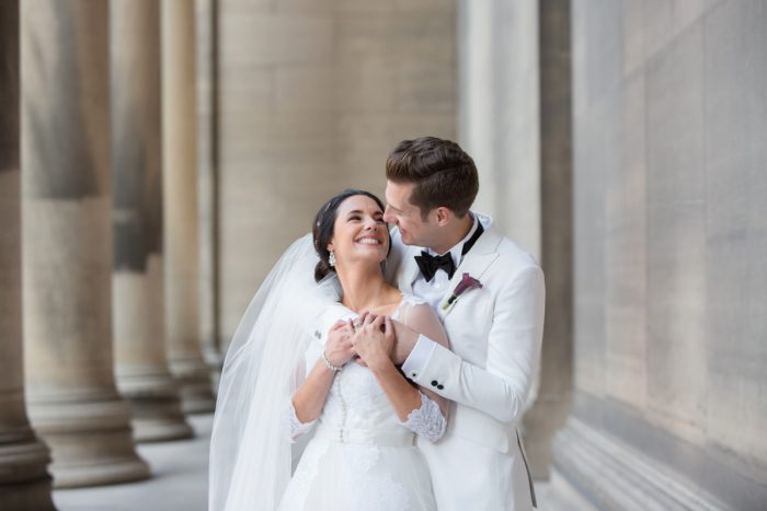 Romantic Wedding Day Portraits: Elegant Black & White Wedding at Noah's Event Venue: Mallory & Mark