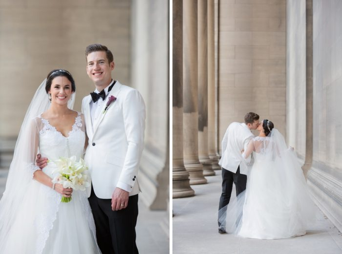 Mellon Institute Wedding Photos: Elegant Black & White Wedding at Noah's Event Venue: Mallory & Mark