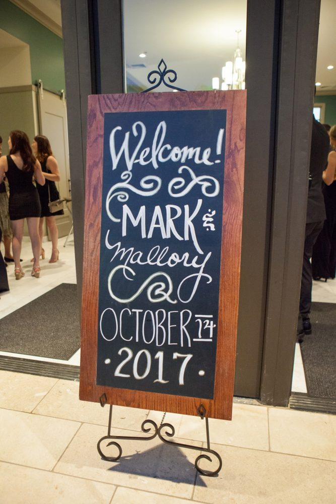 Wedding Welcome Signs: Elegant Black & White Wedding at Noah's Event Venue: Mallory & Mark